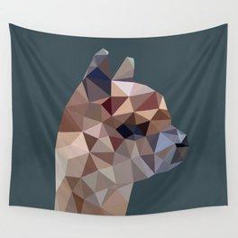 Geometric Alpaca Teddy Wall Tapestry