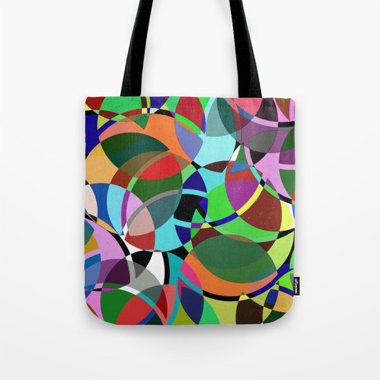 Pastel Pieces II - Abstract, textured, pastel, arcs and circles design Tote Bag