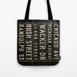 Chicago Streets Transit Sign Tote Bag