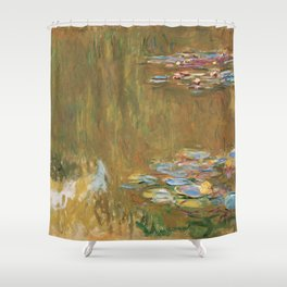 The Water Lily Pond by Claude Monet Shower Curtain