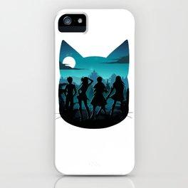 Happy Silhouette iPhone Case