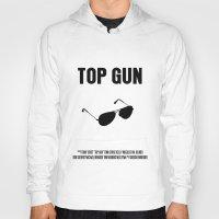 top gun Hoodies featuring Top Gun Movie Poster by FunnyFaceArt