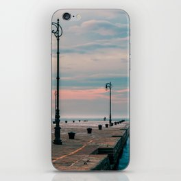Windy day in the city of Trieste iPhone Skin