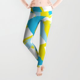 Blue & Yellow Patterns Leggings