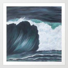 Black wave Art Print