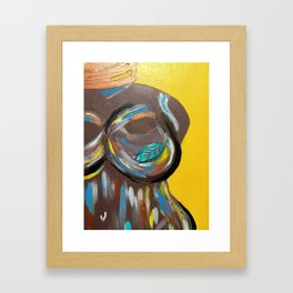 Bare Faced Framed Art Print