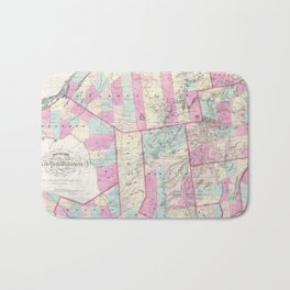 Vintage Map of The Adirondack Mountains (1867) Bath Mat