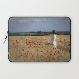 Waiting in the field Laptop Sleeve