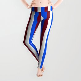 Team Colors 4... maroon,blue and white Leggings