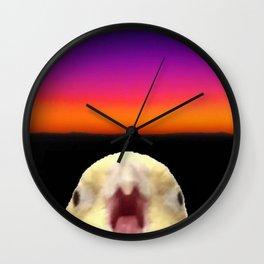 Horizontal Line in Birb Wall Clock