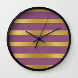 Baesic Gold & Purple Texture Shine Wall Clock