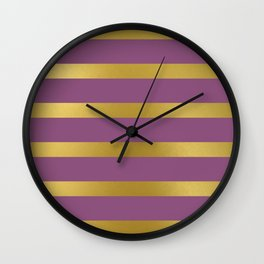 Baesic Gold & Purple Texture Shine Wall Clock