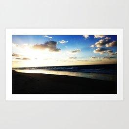 Sunset northern coast Egypt 1 Art Print