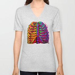 Ribbin It up - Rib Cage Anatomy Unisex V-Neck
