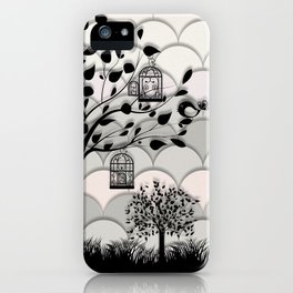 Paper landscape B&W iPhone Case