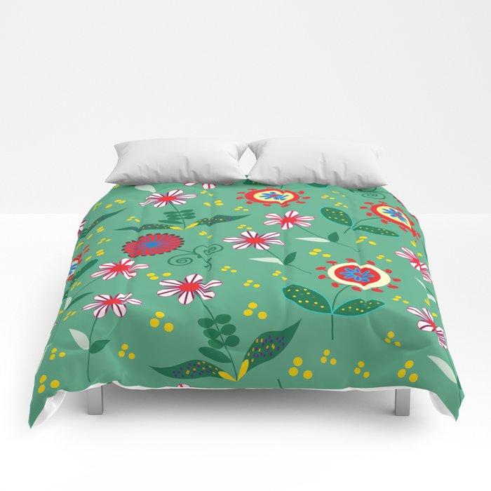 Floral pattern # C10 Comforters