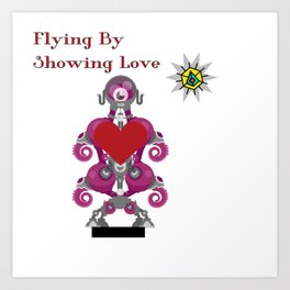Flying By Showing Love Art Print