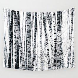 Birch Trees In Winter Wall Tapestry