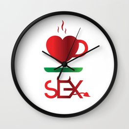 Coffee and Sex Wall Clock