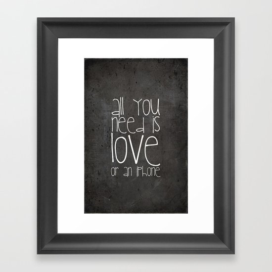 iPhone Framed Art Print