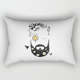 Make Beards not War (typo edition) Rectangular Pillow