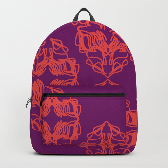 luxury monograms vint pink backpack by wellglow society6