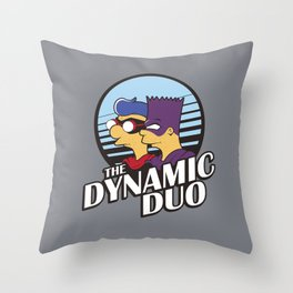 Springfield Heroes Throw Pillow