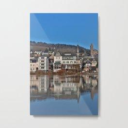 Jugendstil Hotel Moselle River Metal Print