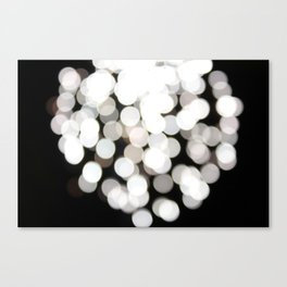 Shattered White Canvas Print