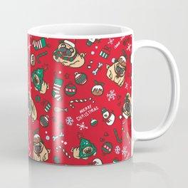 Christmas pattern with pugs Coffee Mug