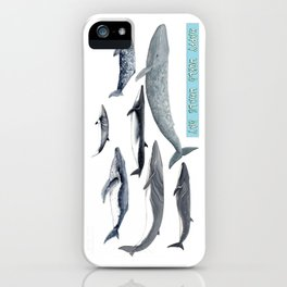 Happy world whale day iPhone Case