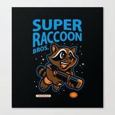 Super Raccoon Canvas Print