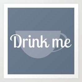 Alice in Wonderland- Drink Me Art Print