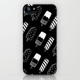 Summer Ice Lollies (Black) iPhone Case
