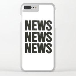 News News News Clear iPhone Case