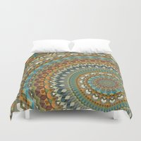 the 100 Duvet Covers featuring Mandala 100 by Patterns of Life