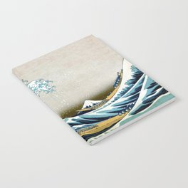 The great wave, famous Japanese artwork Notebook