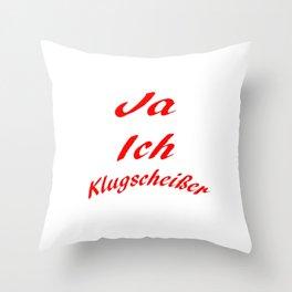 Klugscheißer Throw Pillow