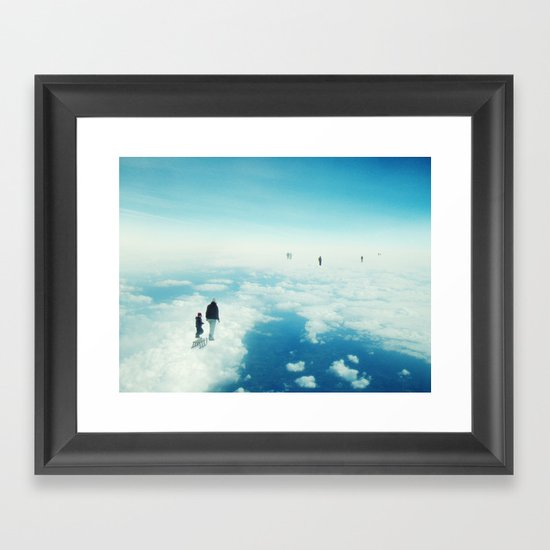 Heaven's already here above the clouds Framed Art Print