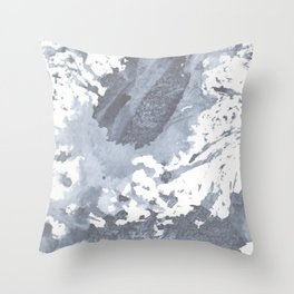Indigo Paint Splatter Two Throw Pillow