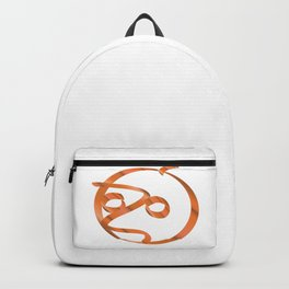 Halloween pumpkin on transparent background Backpack