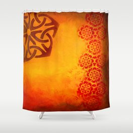 Abstract heat Shower Curtain
