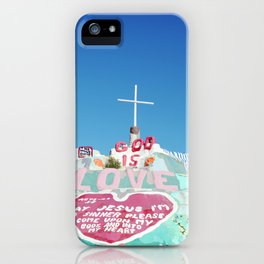 Salvation Mountain in the Californian Desert iPhone Case