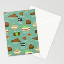 Swedish fika collection #2 Stationery Cards