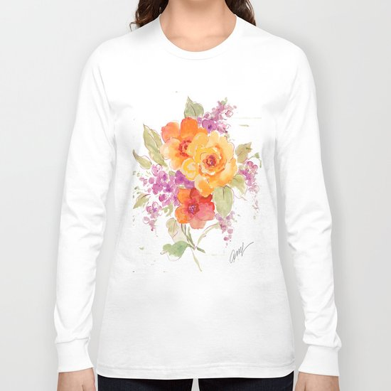 flower beach roses floral Long Sleeve T-shirt