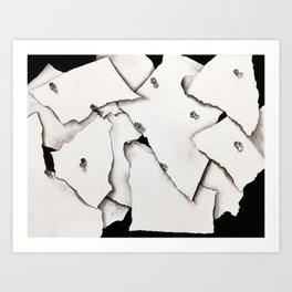 Paper on Paper Art Print