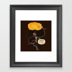 Yoga Flame Framed Art Print