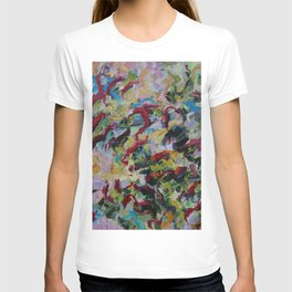 Unchained: Bold and Colorful Orginal painting T-shirt