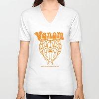 will ferrell V-neck T-shirts featuring ANCHORMAN - Venom  by John Medbury (LAZY J Studios)
