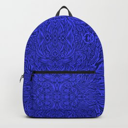 Stare into the Deep Blue Void Abstract Pattern Backpack